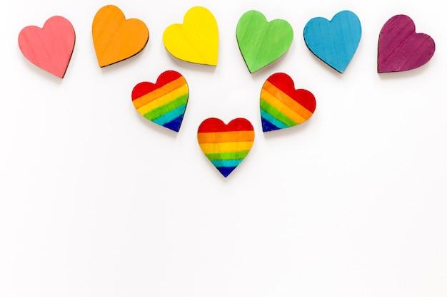 Coleção colorida de corações