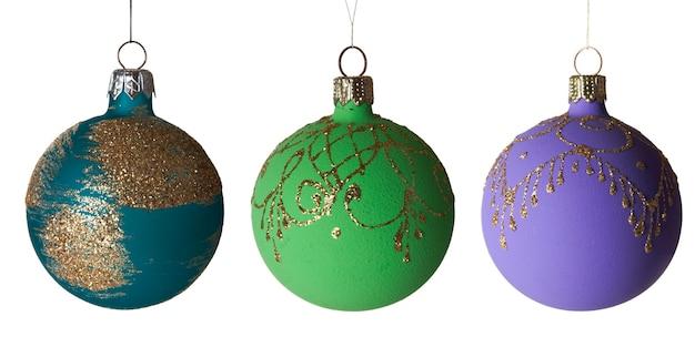 Coleção de ano novo - brinquedos para árvores de natal