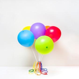 Coleção de balões brilhantes