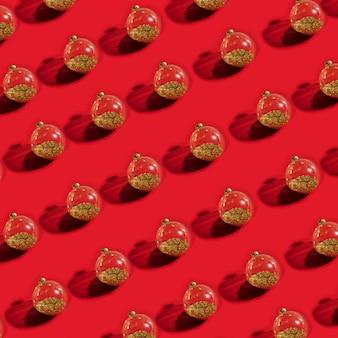 Coleção de bolas de natal transparentes