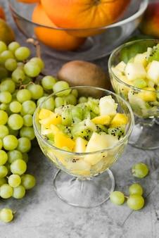 Coleção de close-up de frutas exóticas, prontas para serem servidas