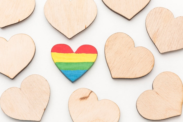 Coleção de corações do dia do orgulho