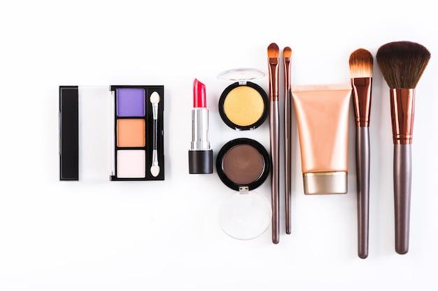 Coleção de cosméticos de beleza