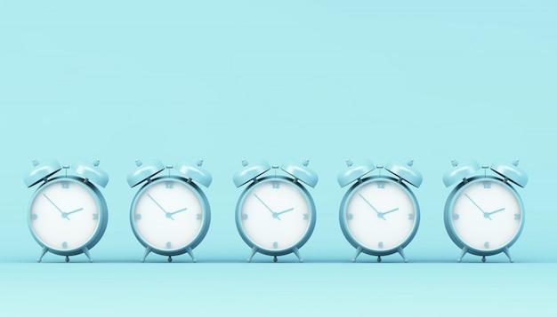 Coleção de despertador azul