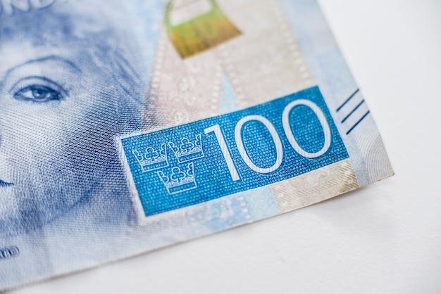 Coleção de dinheiro mundial. fragmentos de dinheiro sueco