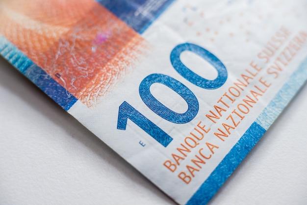Coleção de dinheiro mundial. fragmentos de dinheiro suíço