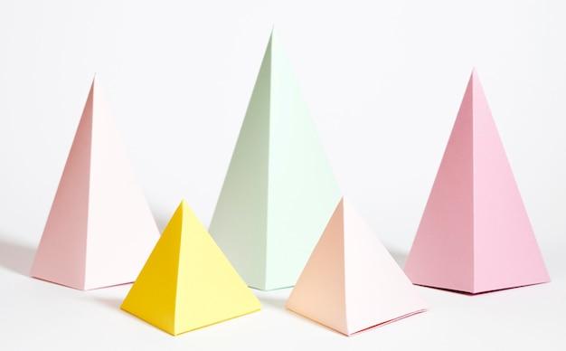 Coleção de elementos de papel pastel