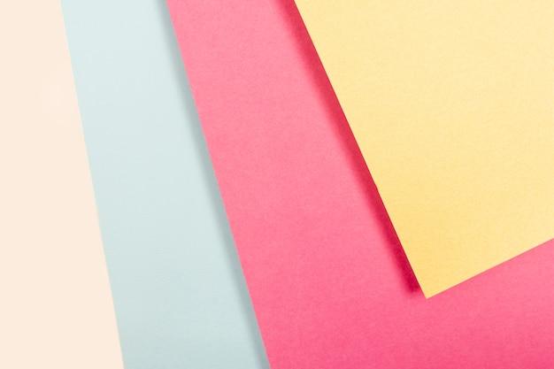 Coleção de folhas de papel pastel