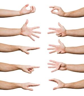 Coleção de gestos de mão