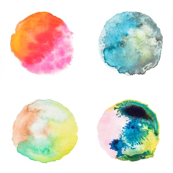 Coleção de manchas aquarela