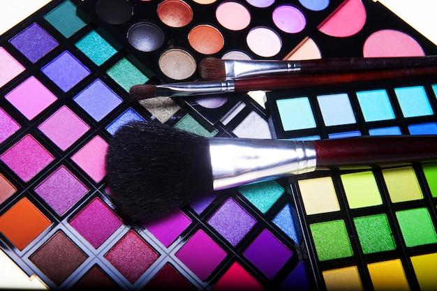 Coleção de maquiagem close-up