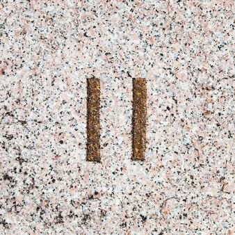 Coleção de números romanos, de 1 a 7, em um verdadeiro granito antigo