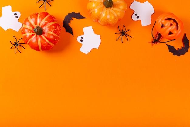 Coleção de objetos de festa de halloween.