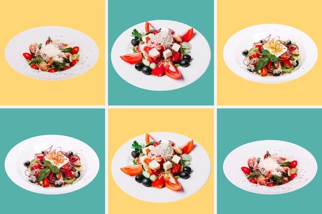 Coleção de refeição saudável