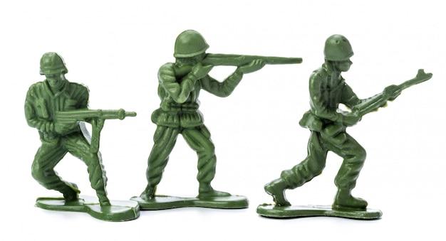 Coleção de soldados de brinquedo tradicionais