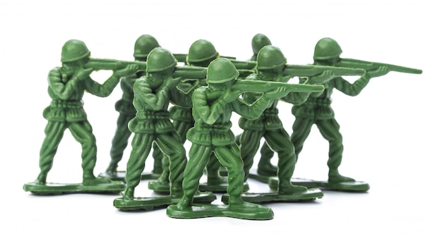 Coleção de soldados de brinquedo tradicional