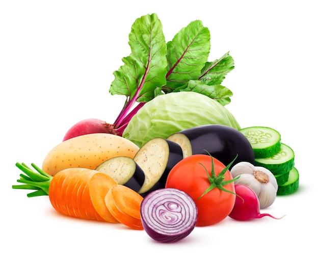 Coleção de vegetais diferentes