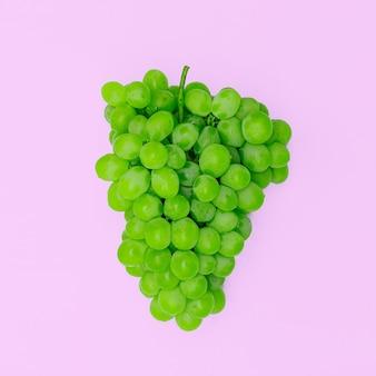 Coleção grapes minimal design flat lay