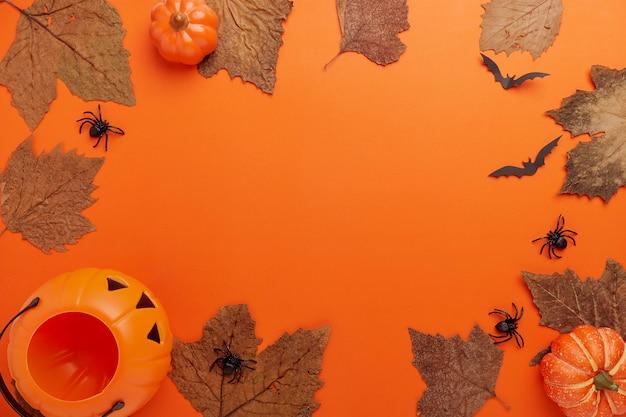 Coleção halloween e outono quadro de objetos de festa