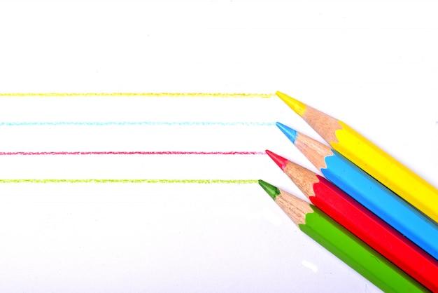 Coleção lápis colorido