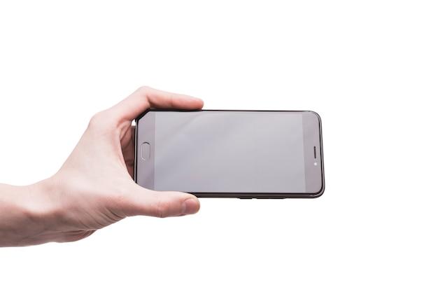 Colheita de mão com smartphone