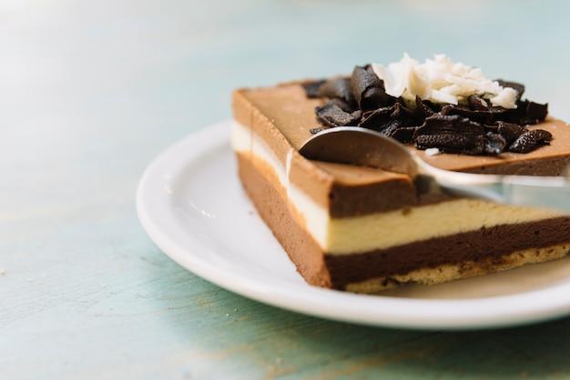 Colher de bolo de chocolate