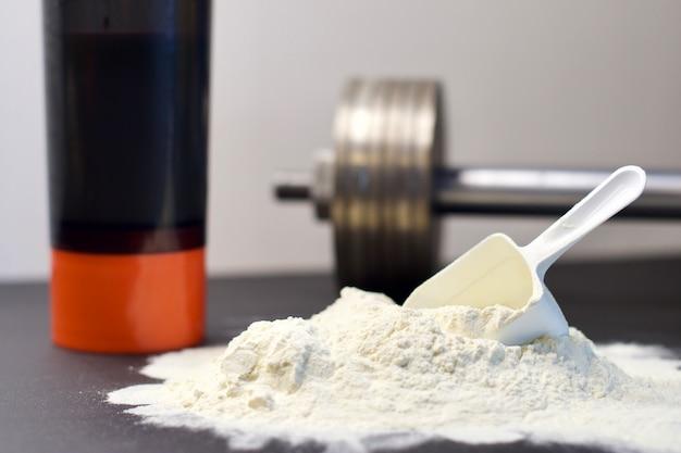 Colher de proteína de soro de leite
