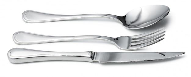 Colher, faca e garfo isolado