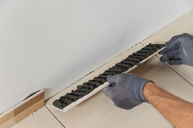 Colocando os azulejos