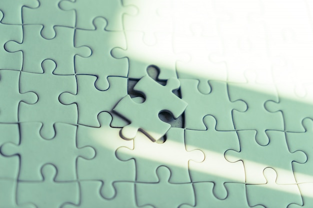 Colocar o último quebra-cabeças para o conceito de solução de negócios
