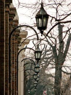 Colonial lâmpadas de rua