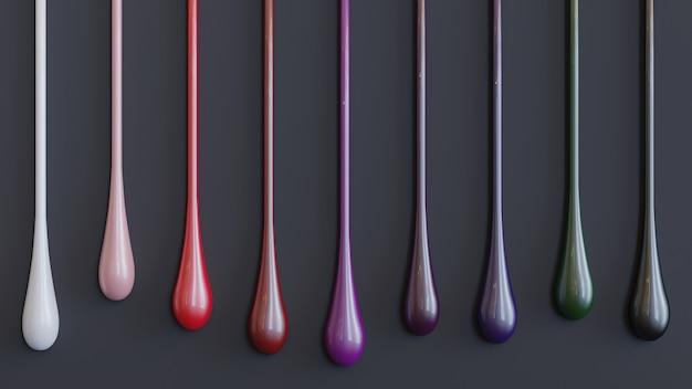 Colorfull 3d liquid para produtos de beleza