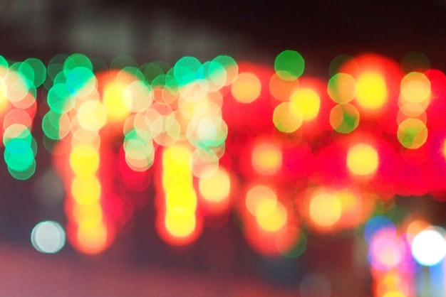 Colorfull bokeh fundo borrado luzes