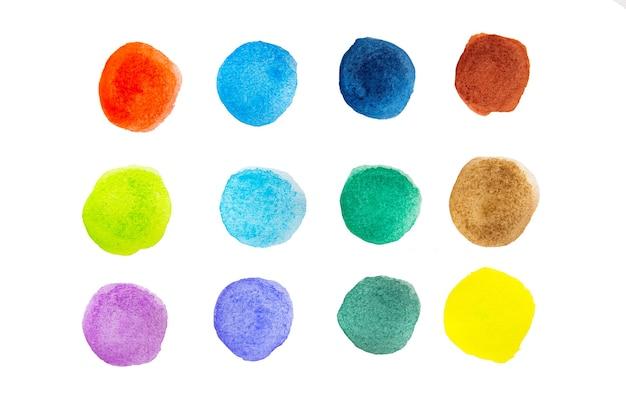 Colorido de aquarela isolado no branco com traçado de recorte