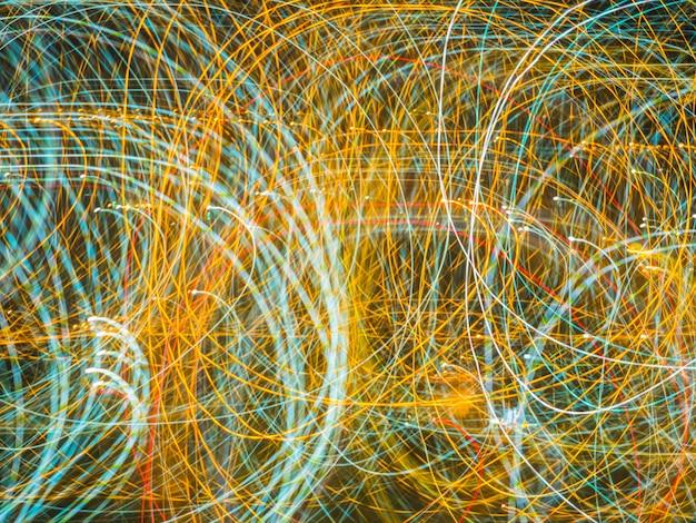 Colorido de longa exposição luzes de néon textura