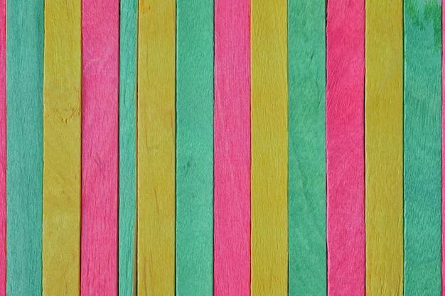 Colorido de palito de sorvete de madeira para design de plano de fundo