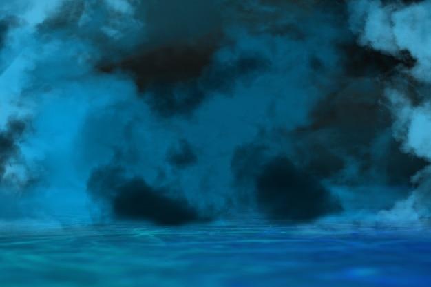 Colors. onda sintética e onda retro, estética futurista de onda de vapor. estilo de néon brilhante. papel de parede horizontal, plano de fundo. folheto elegante para anúncio, oferta, cores brilhantes e efeito neon de fumaça. copyspace.