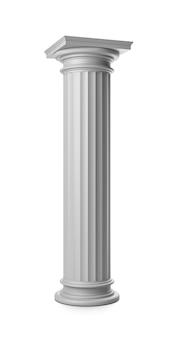 Coluna grega em branco isolado