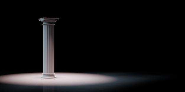 Coluna grega em destaque isolada
