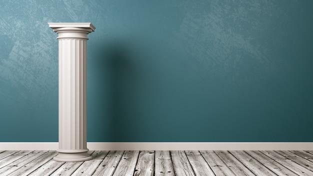 Coluna grega na sala