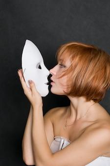 Com máscara