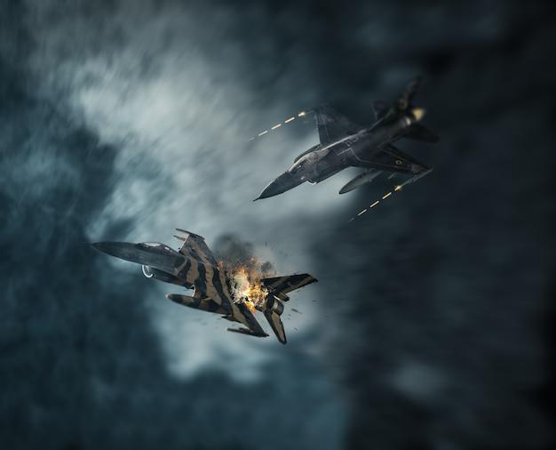 Combate aéreo nas nuvens
