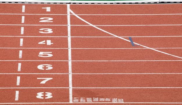 Começar e terminar o ponto da pista de corrida