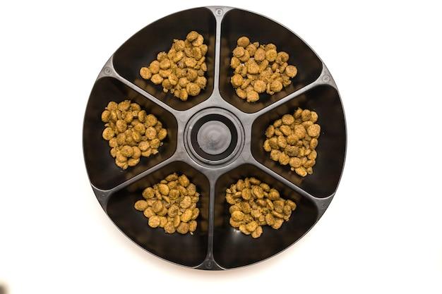 Comedouro automático para animais para seis comedouro para gatos e cães