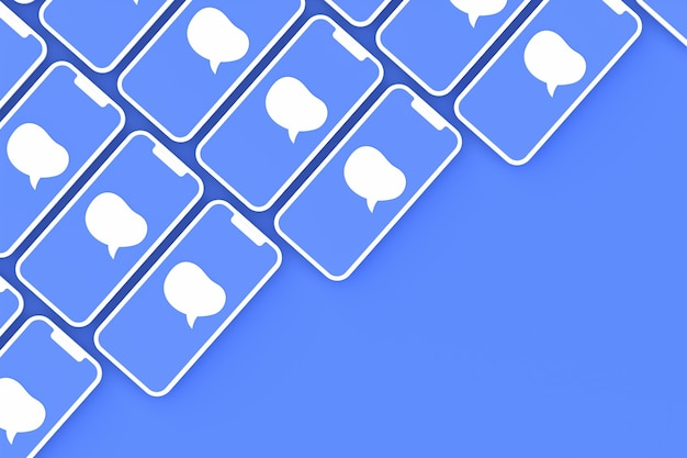 Comentário renderização 3d de mídia social
