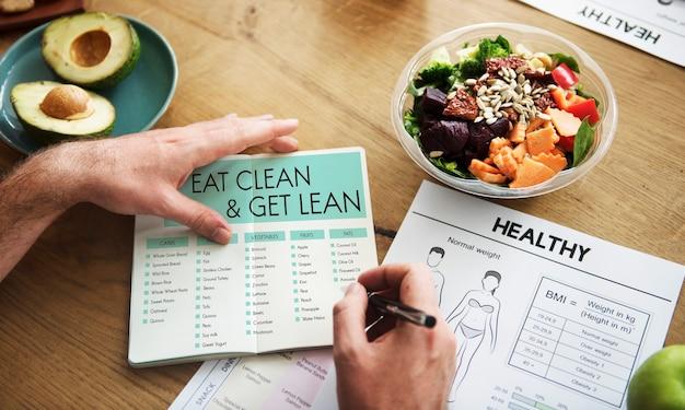 Comer de forma limpa, obter um bem-estar saudável e magro