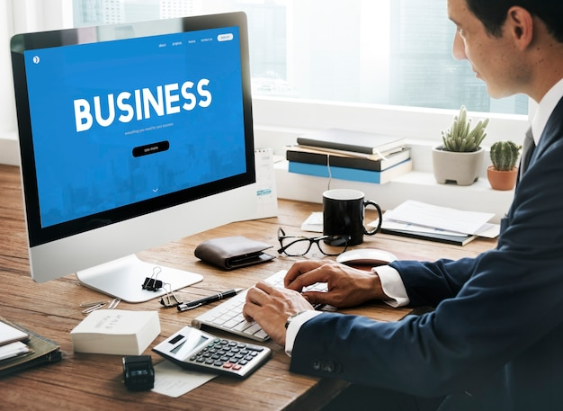 Comercial de organização de empresa de negócios