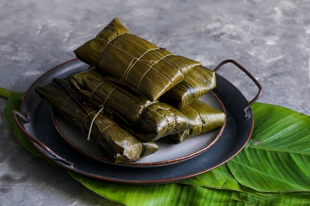 Comida de natal venezuelana, hallacas ou tamales
