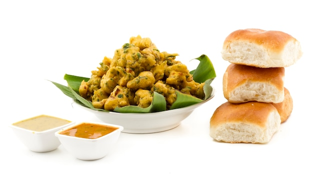 Comida de rua indiana pakora