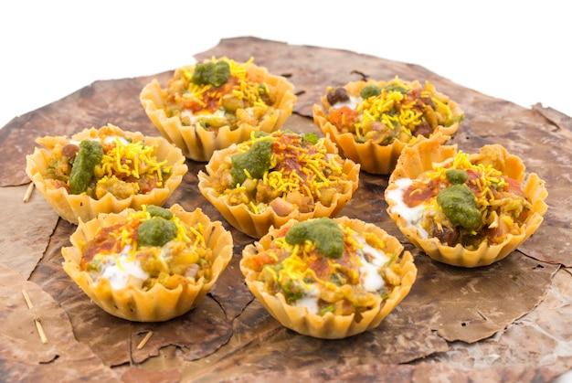 Comida de rua indiana sev puri